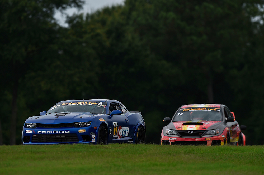 22-23 August 2014, Alton, Virginia USA<br /> 01, Camaro, GS.R, GS, Eric Curran, Jordan Taylor, 76, Subaru, WRX-STI, GS, Ray Mason, Pierre Kleinubing<br /> &copy;2014, Scott R LePage <br /> LAT Photo USA
