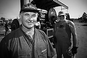 """John Preston, Steam Engine Enthusiast in front of """"Sooty"""" at Steamfest (2005). Steamfest is an award winning annual Festival held in April each year at Maitland In the Hunter Valley"""