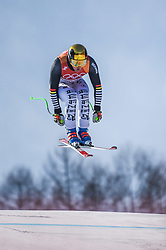 February 15, 2018 - Jeongseon, Gangwon, South Korea - Thomas Dressen of  Germany competing in mens downhill at Jeongseon Alpine Centre at Jeongseon , South Korea on February 15, 2018. (Credit Image: © Ulrik Pedersen/NurPhoto via ZUMA Press)