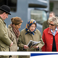 Windsor May 15 HM The Queen and  HRH Princess Haya Bint Al Hussein of Jordan watch the Ladies Side-Saddle class on day 4 of the Royal Windsor Horse show on May 15, 2009 in Windsor, England....***Standard Licence  Fee's Apply To All Image Use***.Marco Secchi /Xianpix. tel +44 (0) 845 050 6211. e-mail ms@msecchi.com or sales@xianpix.com.www.marcosecchi.com