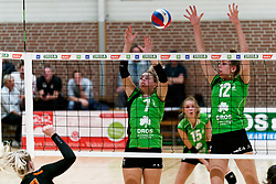26-10-2019 NED: Dros Alterno - Set Up 65, Apeldoorn<br /> Round 4 of Eredivisie volleyball - Daphne Broekhuis #7 of Alterno, Romy Hietbrink #12 of Alterno