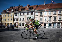 Miha Zupan of Sava Kranj during cycling race On the streets of Kranj 2016, on July 31, 2016 in Kranj centre, Slovenia. Photo by Vid Ponikvar / Sportida