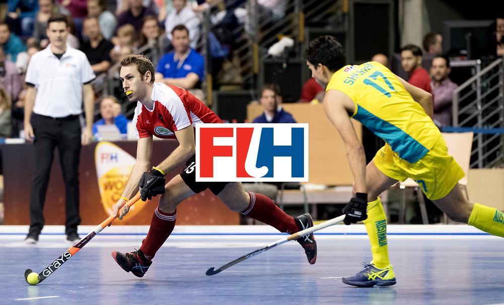 BERLIN - Indoor Hockey World Cup<br /> Semi-final 2: Australia - Austria<br /> foto: STEYRER Florian.<br /> WORLDSPORTPICS COPYRIGHT FRANK UIJLENBROEK
