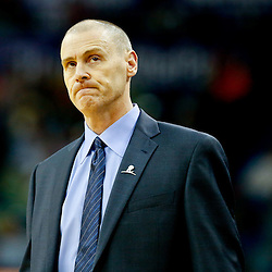 Dec 4, 2013; New Orleans, LA, USA; Dallas Mavericks head coach Rick Carlisle against the New Orleans Pelicans during the second quarter of a game at New Orleans Arena. The Mavericks defeated the Pelicans 100-97. Mandatory Credit: Derick E. Hingle-USA TODAY Sports