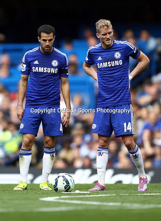 13 September 2014 - Barclays Premier League - Chelsea v Swansea City - Cesc Fabregas and Andre Schurrle of Chelsea - Photo: Marc Atkins / Offside.