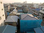 a new residence building under construction in the suburb Yasuura Machi of Yokosuka