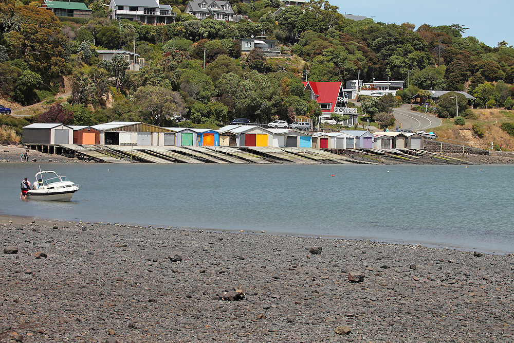 Boat sheds at Dauvauchelle, New Zealand, Thursday, 14 January, 2016.  Credit: SNPA / Pam Carmichael