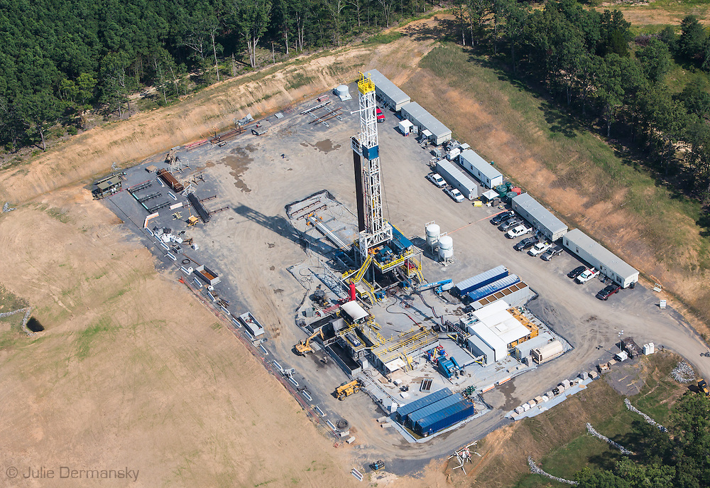 Fracking industry site in Quitman, Arkansas  in Faulkner County which sits on top of the Fayetteville Shale.