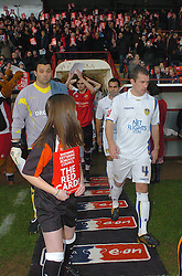 PLAYER MANAGER LEE HARPER LEADS OUT HIS TEAM Kettering Town v Leeds United, FA Cup Second Round Rockingham Road, Saturday 29th November 2009, Score 1-1