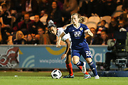 Luana Buhler (#22) of Switzerland on the ball during the 2019 FIFA Women's World Cup UEFA Qualifier match between Scotland Women and Switzerland at the Simple Digital Arena, St Mirren, Scotland on 30 August 2018.