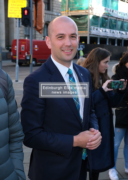 Minister for Europe, Migration and International Development Ben Macpherson launched the annual St Andrew's Day campaign in Edinburgh today.<br /> <br /> The #MakeSomeonesDay campaign is a rallying call to encourage the public to spread a little kindness this St Andrew's Day (30 November).<br /> <br /> Pictured: Ben Macpherson MSP<br /> <br /> Alex Todd | Edinburgh Elite media