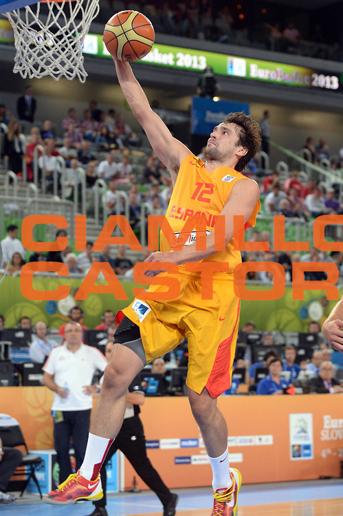DESCRIZIONE : Lubiana Ljubliana Slovenia Eurobasket Men 2013 Finale Terzo Quarto Posto Spagna Croazia Final for 3rd to 4th place Spain Croatia<br /> GIOCATORE : Sergio Llull<br /> CATEGORIA : Tiro<br /> SQUADRA : Spagna Spain<br /> EVENTO : Eurobasket Men 2013<br /> GARA : Spagna Croazia Spain Croatia<br /> DATA : 22/09/2013 <br /> SPORT : Pallacanestro <br /> AUTORE : Agenzia Ciamillo-Castoria/Max.Ceretti<br /> Galleria : Eurobasket Men 2013<br /> Fotonotizia : Lubiana Ljubliana Slovenia Eurobasket Men 2013 Finale Terzo Quarto Posto Spagna Croazia Final for 3rd to 4th place Spain Croatia<br /> Predefinita :