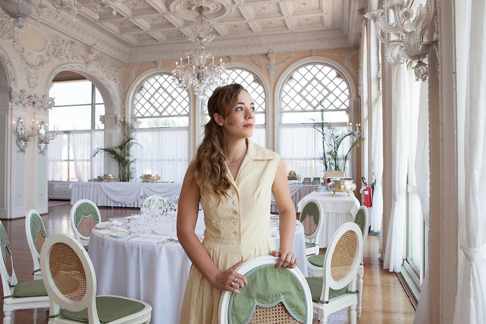 Venice Lido, Italy, September 7, 2016.<br /> The Italian actress Sara Lazzaro at the 73rd edition of the Venice Film Festival.
