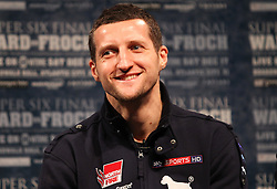 Dec 13; New York, NY, USA; Carl Froch speaks at the final press conference for his bout against Andre Ward.  The two will meet at Boardwalk Hall in Atlantic City, NJ on Saturday, December 17, 2011.
