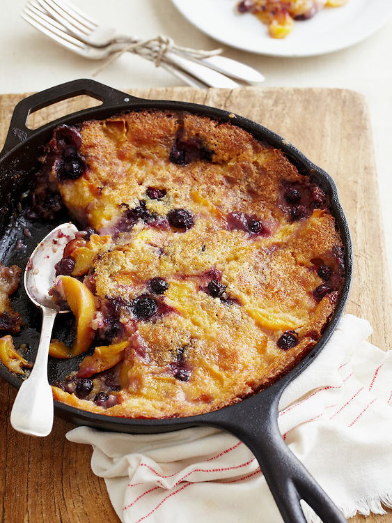 Blackberry and Peach Cobbler from Around the Southern Table Cookbook