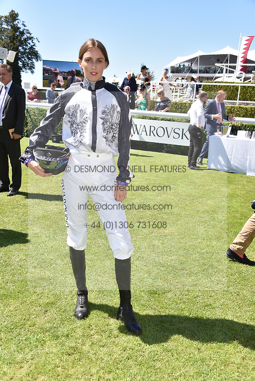 Lady Alice Manners at the Qatar Goodwood Festival - Glorious Goodwood, Goodwood Racecourse, West Sussex 02 August 2018.