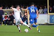 Northampton Town midfielder Gregg Wylde (11) dribbling and attacking AFC Wimbledon midfielder Tom Soares (14) during the EFL Sky Bet League 1 match between AFC Wimbledon and Northampton Town at the Cherry Red Records Stadium, Kingston, England on 11 March 2017. Photo by Matthew Redman.