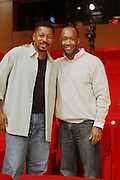 "l to r: Robert Townsend and Jeff Friday at The Robert Townsend's ""The Ultimate Pitch"" Master Class Produced by Film Life and held at The Times Center on November 21, 2009 in New York City. Terrence Jennings/Retna, Ltd"