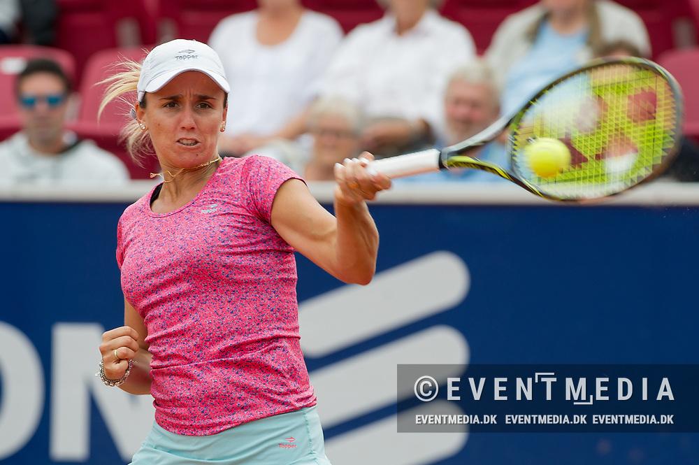 María Irigoyen (Argentina) at the 2017 WTA Ericsson Open in Båstad, Sweden, July 30, 2017. Photo Credit: Katja Boll/EVENTMEDIA.