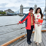 """See Li and Chinese Soprano  朱珍,Jane Maria sings 我和我的祖国,Me and my country to celebration of the 70th China National Day 2019 and a Chinese """"Qipao"""" flash mob, London, 28 September 2019, UK."""