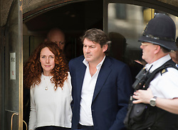 ** File pics - Rebekah Brooks return to News UK** © London News Pictures. 24/06/2014. London, UK. Former CEO of News International, Rebekah Brooks leaving the Old Bailey in London with her husband Charlie after being found not guilty in the Phone Hacking trial. Brooks has been cleared of all charges of conspiring to hack phones with others between 2000 and 2006..  Photo credit : Ben Cawthra/LNP