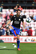 Leicester City Defender, Jonny Evans (6) during the Premier League match between Bournemouth and Leicester City at the Vitality Stadium, Bournemouth, England on 15 September 2018.