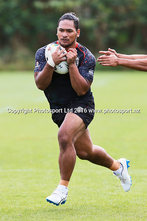 Solomone Kata, Vodafone Warriors Training Session, Mt Smart Stadium, Auckland. 9 January 2017. Copyright Image: William Booth / www.photosport.nz