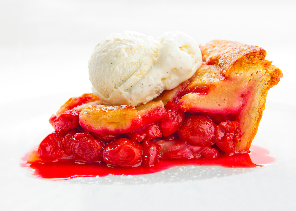 Cherry pie a la mode at  the River Seafood and Oyster Bar in Miami