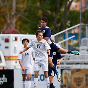 SEWICKLEY, PA - November 4:  During the final match of the Western Pennsylvania Interscholastic Athletic League Class 2-A Boys Soccer Championships between Quaker Valley High School and Shadyside Academy at Highmark Stadium on November 4, 2017 in Pittsburgh, PA.  Shadyside went on to win 3-2 in double overtime. (Photo by Shelley Lipton)