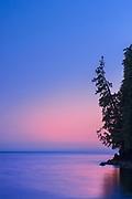 Strait of Juan de Fuca at dusk , Port Renfrew, British Columbia, Canada