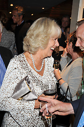 HRH the DUCHESS OF CORNWALL at the launch of Tom Parker Bowles's new book 'Full English' held in the Gallery Restaurant, Selfridges, Oxford Street, London on 9th September 2009.