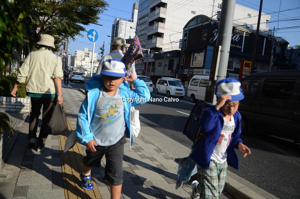 Japanese children after school, Kyoto
