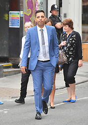 Ryan Ali arrives at Bristol Crown Court where he is on trial accused of affray along with England cricketer Ben Stokes.
