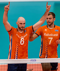 08-09-2018 NED: Netherlands - Argentina, Ede<br /> Second match of Gelderland Cup / Jasper Diefenbach #6 of Netherlands, Gijs Jorna #7 of Netherlands