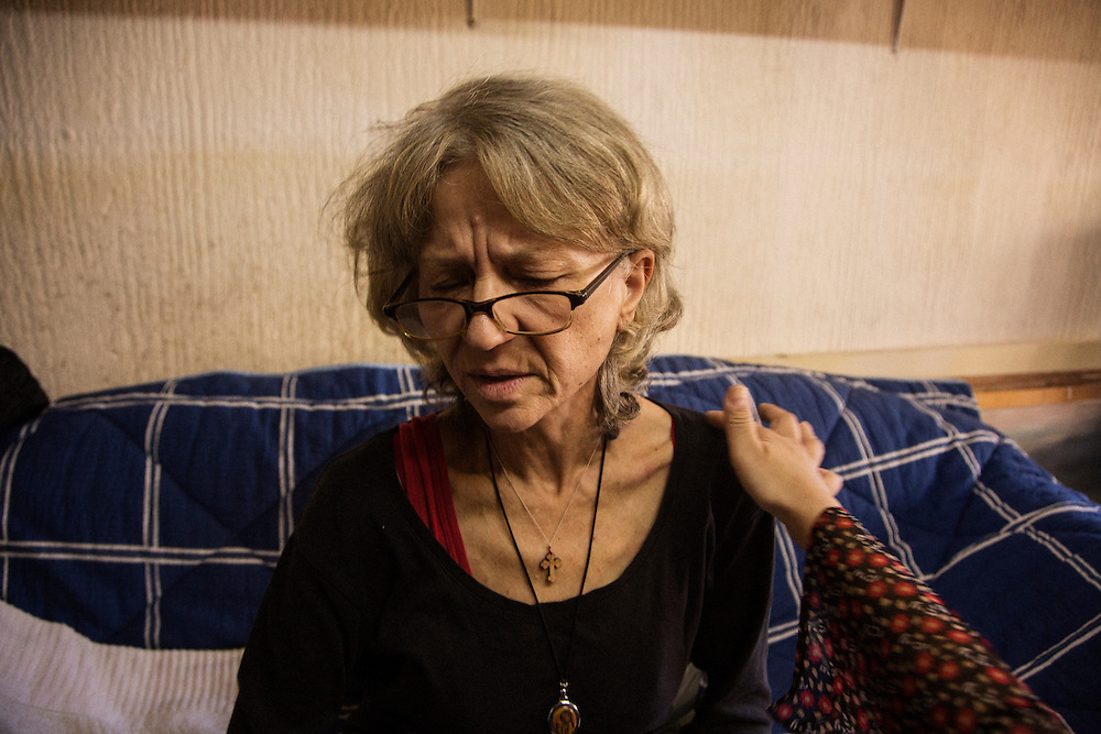 Snezana Erić, 55, is battling lung and uterine cancer. She is a former professor of Serbian language and literature and has been a Belhospice patient for 8 months. She lives alone in a converted storefront in the Zarkovo neighborhood of Belgrade, Serbia.
