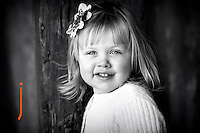 Portrait of young girl in B&W