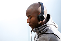Benik Afobe of Bristol City arrives at Pride Park for the Sky Bet Championship fixture against Derby County - Mandatory by-line: Robbie Stephenson/JMP - 20/08/2019 - FOOTBALL - Pride Park Stadium - Derby, England - Derby County v Bristol City - Sky Bet Championship