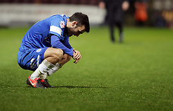 Peterborough United's Jack Payne cuts a dejected figure at full-time  - Photo mandatory by-line: Joe Dent/JMP - Mobile: 07966 386802 18/04/2014 - SPORT - FOOTBALL - Bradford - Valley Parade - Bradford City v Peterborough United - Sky Bet League One