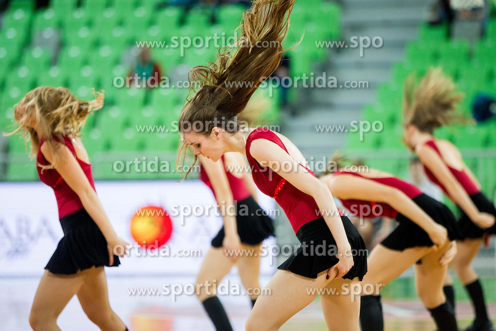 Dragon Ladies perform during basketball match between KK Union Olimpija and KK Zadar in 13th Round of ABA League 2013/14, on December 22, 2013 in Arena Stozice, Ljubljana, Slovenia.  Photo by Vid Ponikvar / Sportida