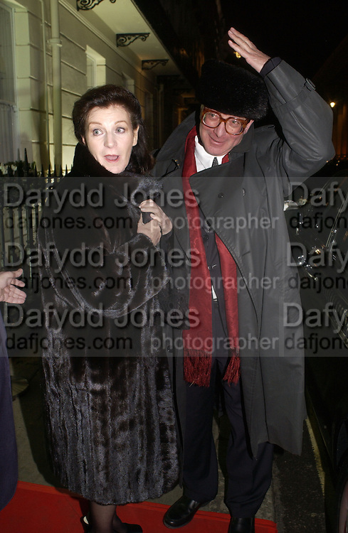 Lord and Lady Saatchi  ( Josephine Hart and Maurice Saatchi ) Olga Polizzi and Rocco Forte host a party to celebrate the re-opening of Brown's Hotel  after a  £19 million renovation. Albermarle St. London. 12 December 2005. ONE TIME USE ONLY - DO NOT ARCHIVE  © Copyright Photograph by Dafydd Jones 66 Stockwell Park Rd. London SW9 0DA Tel 020 7733 0108 www.dafjones.com