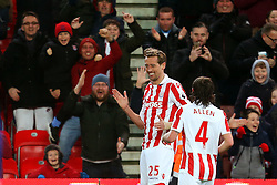 A Stoke City fan replicates the robot dance celebration of Peter Crouch after the opening goal - Mandatory by-line: Matt McNulty/JMP - 01/02/2017 - FOOTBALL - Bet365 Stadium - Stoke-on-Trent, England - Stoke City v Everton - Premier League
