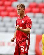 GOAL Celebration Torjubel Joshua Kimmich #32 von FC Bayern Muenchen nach dem 1:0  During the Bayern Munich vs SC Freiburg Bundesliga match  at Allianz Arena, Munich, Germany on 20 June 2020.