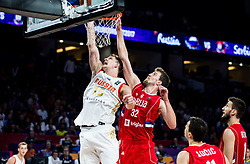 Timofey Mozgov of Russia vs Ognjen Kuzmic of Serbia during basketball match between National Teams of Russia and Serbia at Day 16 in Semifinal of the FIBA EuroBasket 2017 at Sinan Erdem Dome in Istanbul, Turkey on September 15, 2017. Photo by Vid Ponikvar / Sportida