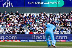 Fans look on as Jonny Bairstow of England bats but there are empty seats an hour into play - Mandatory by-line: Robbie Stephenson/JMP - 18/06/2019 - CRICKET- Old Trafford - Manchester, England - England v Afghanistan - ICC Cricket World Cup 2019 group stage