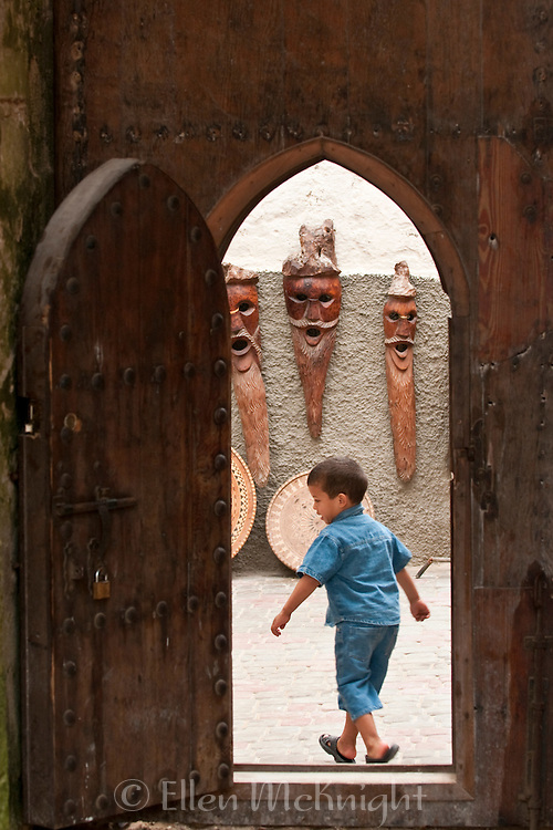 Young Morrocan boy in Essaouira, Morocco