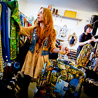 SARASOTA, FL -- December 27, 2011 -- Singer Kendra Morris hunts for new clothes at one of her local favorite thrift stores, Art Pool Gallery, in St. Petersburg, Fla., on Wednesday, February 28, 2011.  Morris has a   (PHOTO / CHIP LITHERLAND)