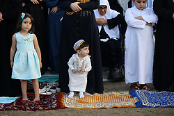 June 25, 2017 - Gaza City, Gaza Strip - Palestinian Muslim women perform Eid al-Fitr prayers in Gaza City June 25, 2017. Eid al-Fitr marks the end of Muslim's holy fasting month of Ramadan when faithfuls abstain from eating, drinking, smoking and sexual activities from dawn to dusk  (Credit Image: © Ashraf Amra/APA Images via ZUMA Wire)