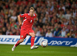 CARDIFF, WALES - Friday, September 5, 2008: Wales' David Edwards in action against Azerbaijan during the opening 2010 FIFA World Cup South Africa Qualifying Group 4 match at the Millennium Stadium. (Photo by David Rawcliffe/Propaganda)