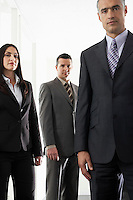 Businesswoman and two businessmen portrait