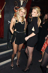 Left to right, sisters OLYMPIA SCARRY and FIONA SCARRY at a party to celebrate the first issue of British Harper's Bazaar held at Cirque, 10-14 Cranbourne Street, London WC2 on 16th February 2006.<br />